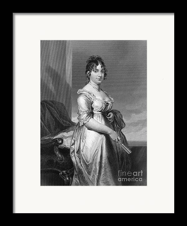18th Century Framed Print featuring the photograph Dolley Payne Todd Madison by Granger