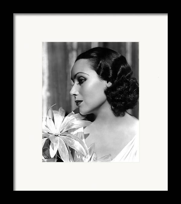 1930s Portraits Framed Print featuring the photograph Dolores Del Rio, Portrait Ca. 1934 by Everett
