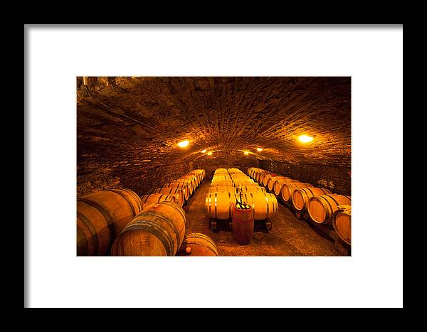 Burgundy Framed Print featuring the photograph Domaine Pinquier-burgundy France by John Galbo
