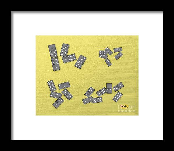 Digital Painting Framed Print featuring the digital art Domino Clusters by Rod Seeley