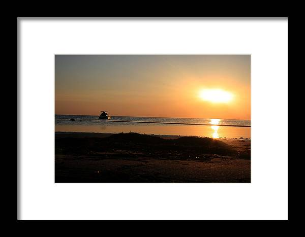Orange Framed Print featuring the photograph Done For The Day by Christopher Hignite