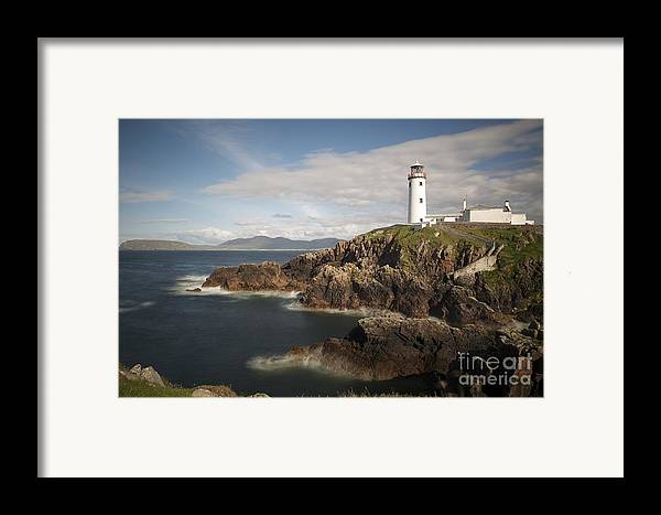 Irish Framed Print featuring the photograph Donegal Lighthouse by Andrew Michael