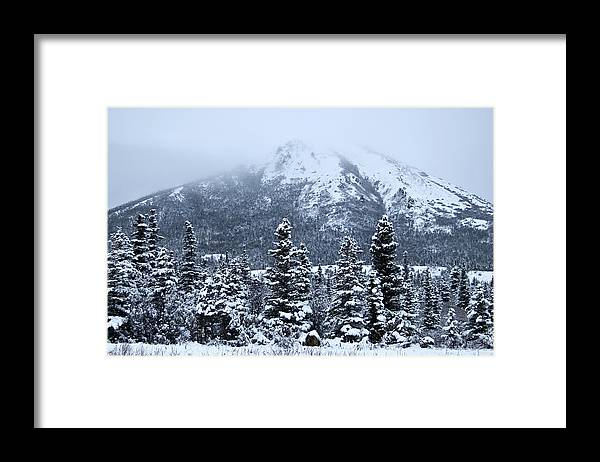 Landscape Framed Print featuring the photograph Donnelly Dome by Jim and Kim Shivers