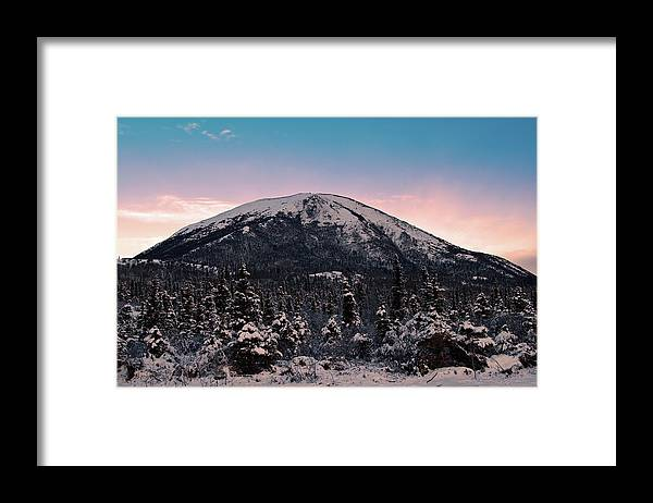 Landscape Framed Print featuring the photograph Donnelly Dome Shines by Jim and Kim Shivers