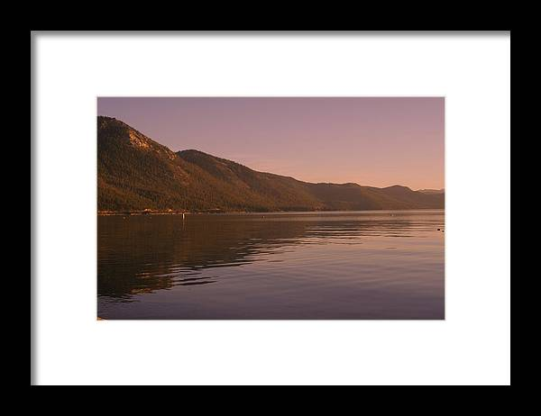 Donner Lake Framed Print featuring the photograph Donner Lake by Adam Blankenship