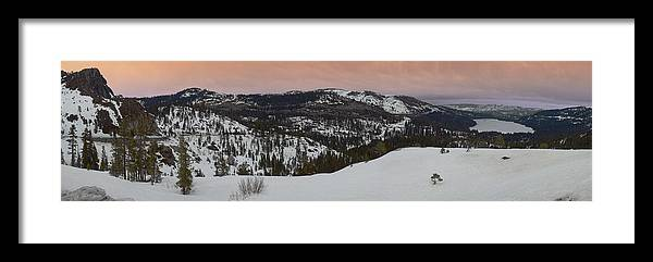 Framed Print featuring the photograph Donner Panoramic by Adam Blankenship