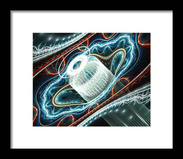 Fractal Framed Print featuring the digital art Dont Exhale Th Edit by Drake Lock