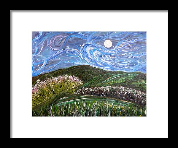 Moonlight Framed Print featuring the painting Don't Forget Me by Sara Credito