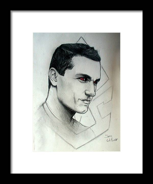 Sam Witwer Framed Print featuring the drawing Doomsday by Ulysses Albert III