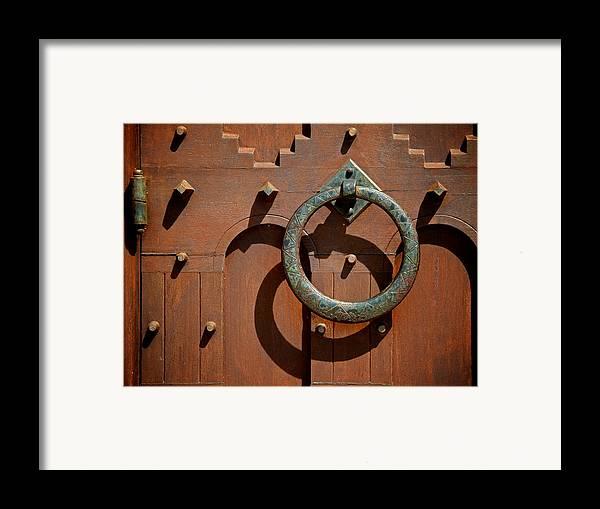 Door Framed Print featuring the photograph Door Detail by Odd Jeppesen