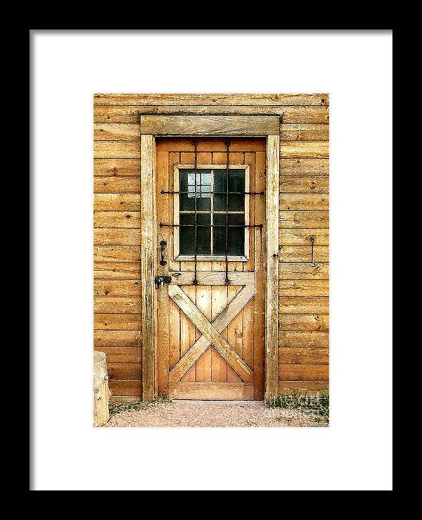 Cristopher Ernest Framed Print featuring the photograph Doorway To Yesterday by Cristophers Dream Artistry