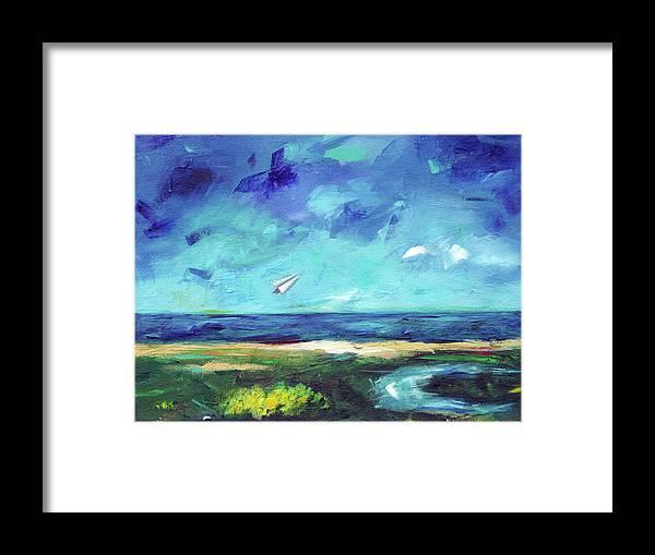 Mediterranean Framed Print featuring the painting Dor Beach Winter by Noga Ami-rav