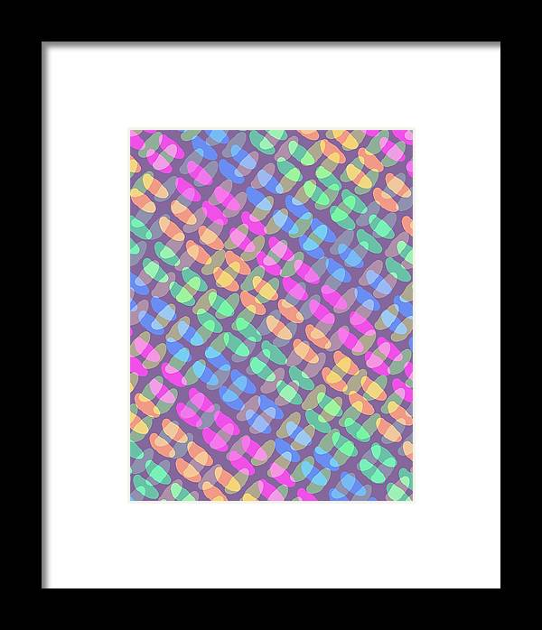 Dotted Check Framed Print featuring the digital art Dotted Check by Louisa Knight