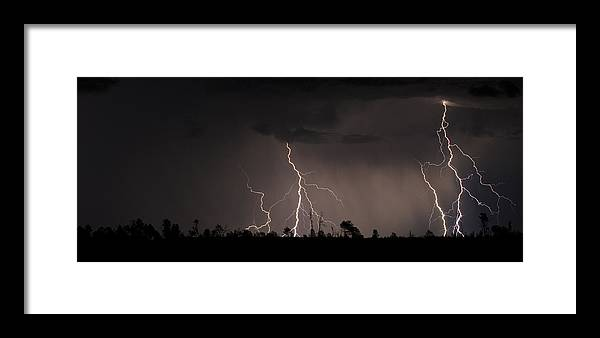 Lightning Framed Print featuring the photograph Double Time by Ren Alber