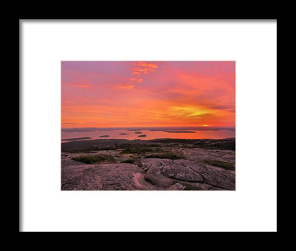 Sunrise Framed Print featuring the photograph Down East Sunrise by Stephen Vecchiotti