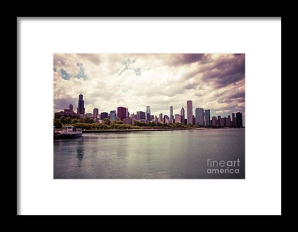 2012 Framed Print featuring the photograph Downtown Chicago Skyline Lakefront by Paul Velgos