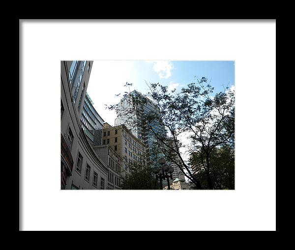 Cityscape Framed Print featuring the photograph Downtown Indy by Helen ONeal