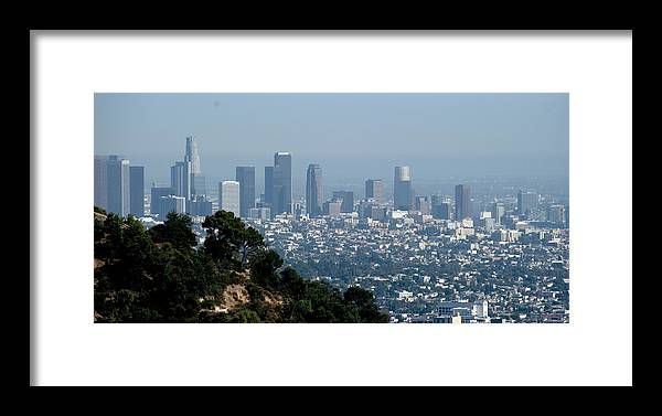 Los Framed Print featuring the photograph Downtown La by Malania Hammer