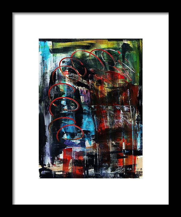 A Great Christmas Gift Framed Print featuring the painting Downwards by Terrance Prysiazniuk