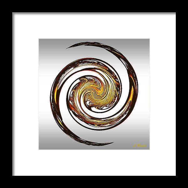 Fractal Framed Print featuring the digital art Dragon by Leslie Revels