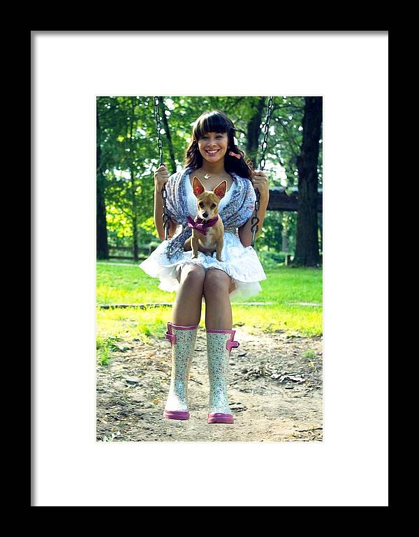 Framed Print featuring the photograph Dream Girl by Carolyn Valentin