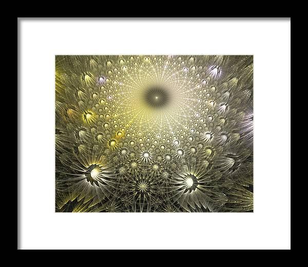 Fractal Framed Print featuring the digital art Dream On Little Dreamer by Drake Lock