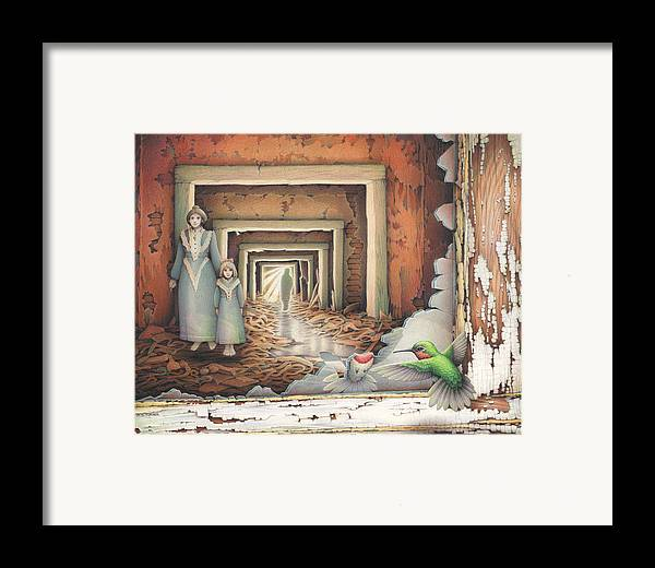 Cpsa Framed Print featuring the drawing Dream Series - Transfixed by Amy S Turner