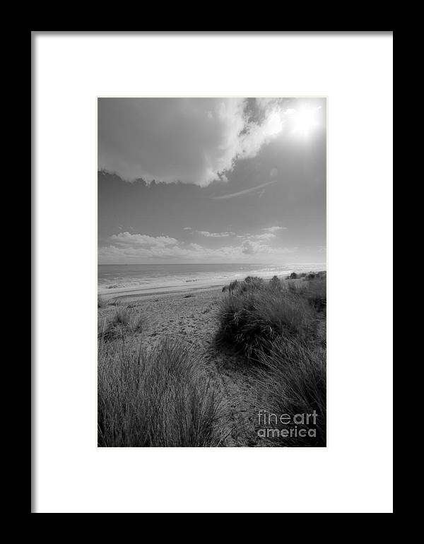 Sun Framed Print featuring the photograph Dreaming Of The Beach by Darren Burroughs