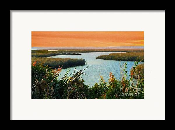 St. Marks Framed Print featuring the photograph Dreamsicle Sunset by Julie Dant