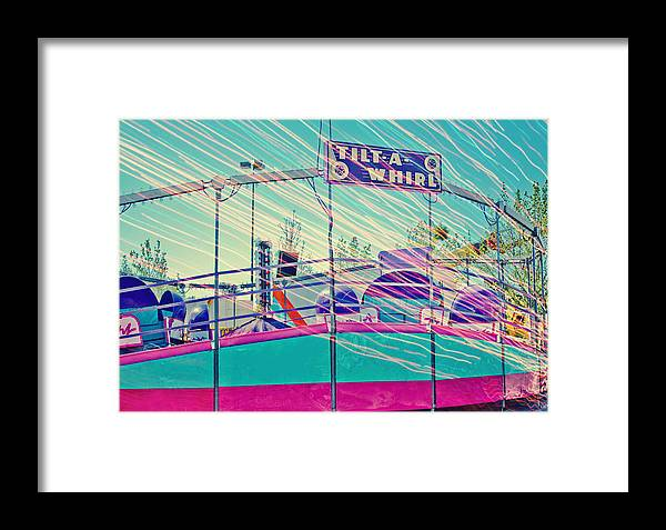 Carnival Framed Print featuring the photograph Dreamy Tilt-a-whirl Carnival Ride by Eye Shutter To Think