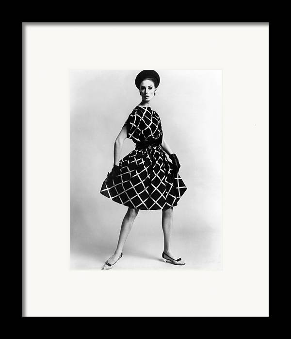History Framed Print featuring the photograph Dress By Pauline Trigere. Short by Everett