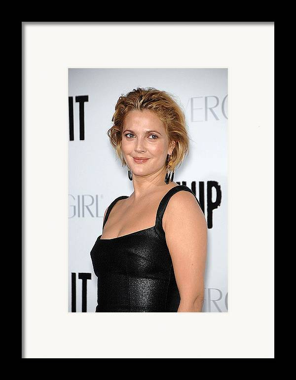 Drew Barrymore Framed Print featuring the photograph Drew Barrymore Wearing Neil Lane by Everett