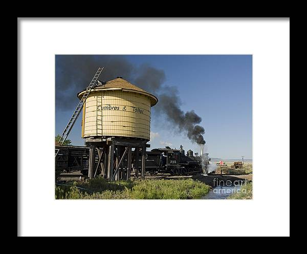 Cumbres & Toltec Framed Print featuring the photograph Drgw 315 In Antonito by Tim Mulina
