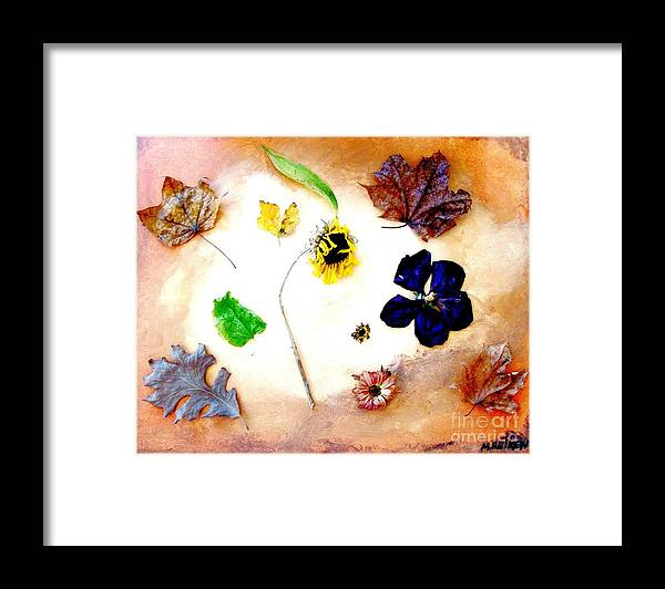 Photo Framed Print featuring the photograph Dried Flowers And Leaves by Marsha Heiken