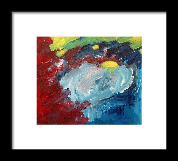 Cloud Framed Print featuring the painting Drifting Cloud by Robert Bruce