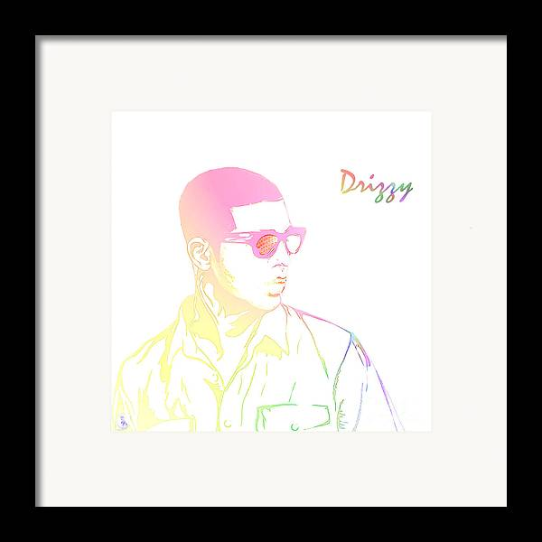 Drizzy Framed Print featuring the digital art Drizzy by The DigArtisT