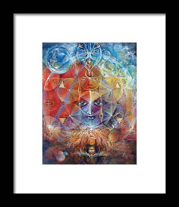 Fantasy Framed Print featuring the painting Duality by Penny Golledge