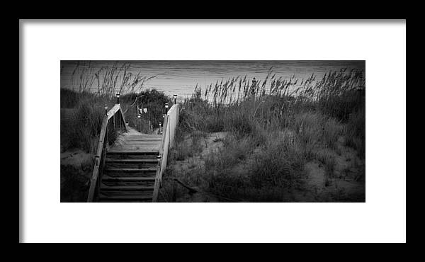 Matte Print Framed Print featuring the photograph Dune Stairway by Kim Galluzzo Wozniak