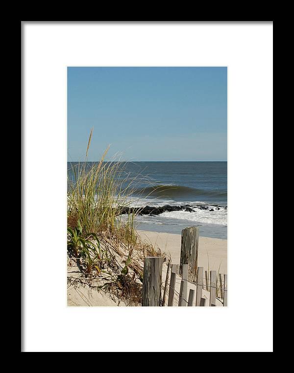 Ocean Dunes Framed Print featuring the photograph Dunes 99 by Joyce StJames