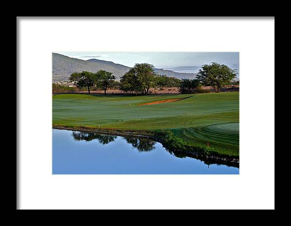 Golf Courses Framed Print featuring the photograph Dunes At Maui Lani 18th Fairway by Kirsten Giving