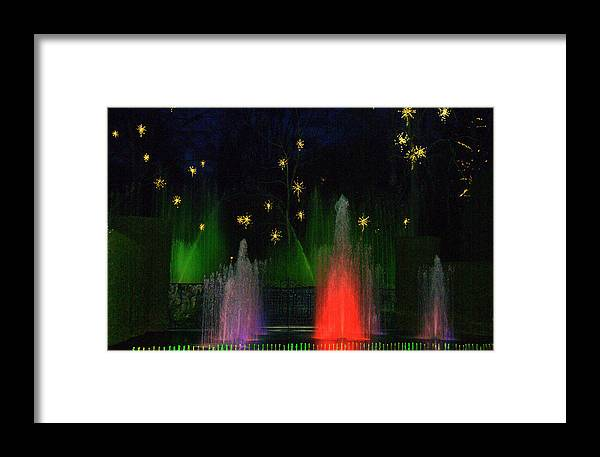 Framed Print featuring the digital art Dupont Gardens Singing Fountain by Aron Chervin