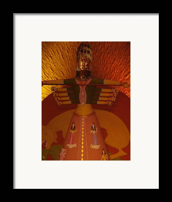 Installation Art Framed Print featuring the photograph Durga by Prasenjit Dhar