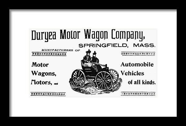 Duryea Motor Wagon Company Framed Print by Granger