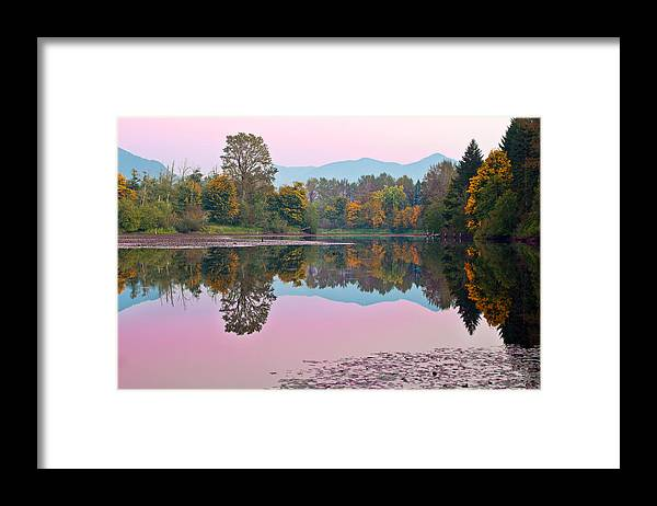 Snoqualmie Framed Print featuring the photograph Dusk Reflections by Manju Shekhar