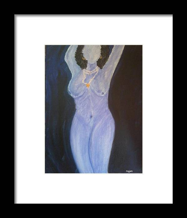 Beauty Framed Print featuring the painting Dusky by Rajan Panse