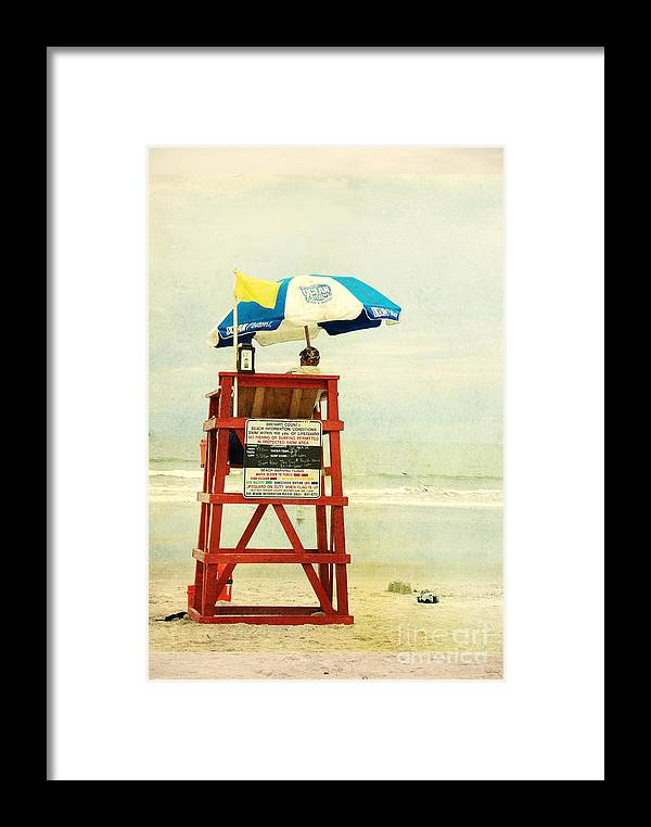 Beach Framed Print featuring the photograph Duty Time by Susanne Van Hulst