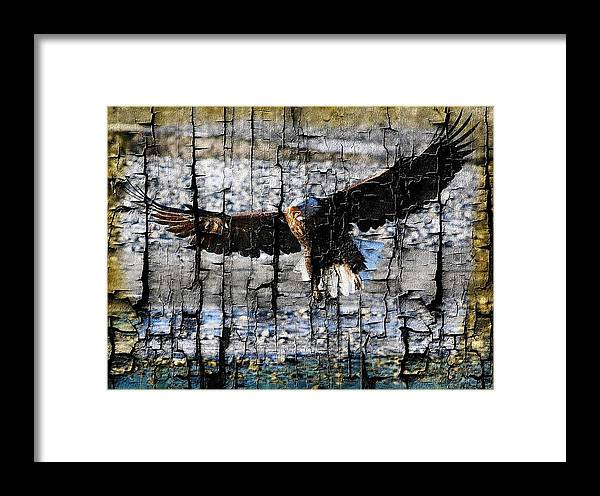 Bald Eagle Framed Print featuring the digital art Eagle Imprint by Carrie OBrien Sibley