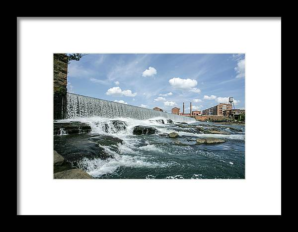 Mill Framed Print featuring the photograph Eagle-phenix Dam by Brian Parton