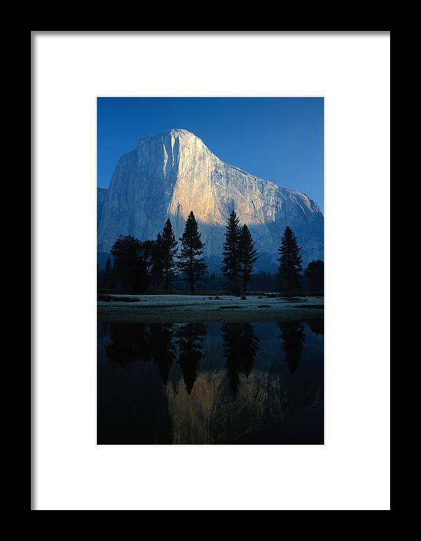 North America Framed Print featuring the photograph Early Morning View Of El Capitan by Phil Schermeister