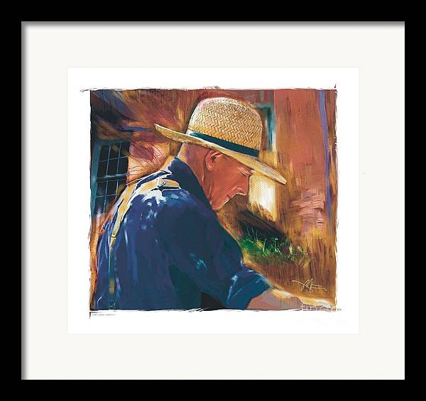 Farmer Framed Print featuring the digital art Early To Rise . . . by Bob Salo